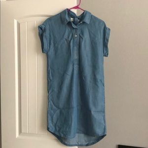 vineyard vines chambray dress with tie